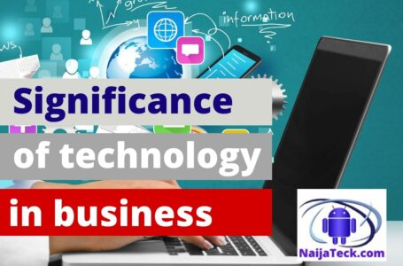 Significance of technology in business